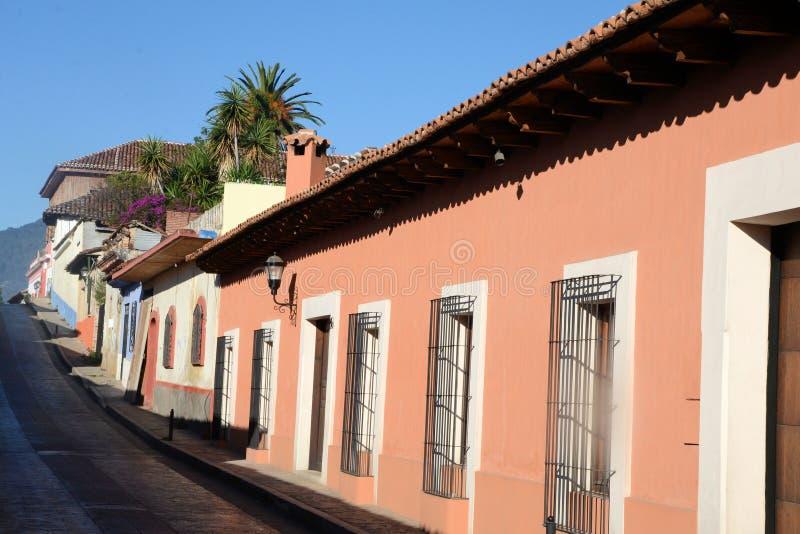 Gata på San Cristobal de Las Casas fotografering för bildbyråer