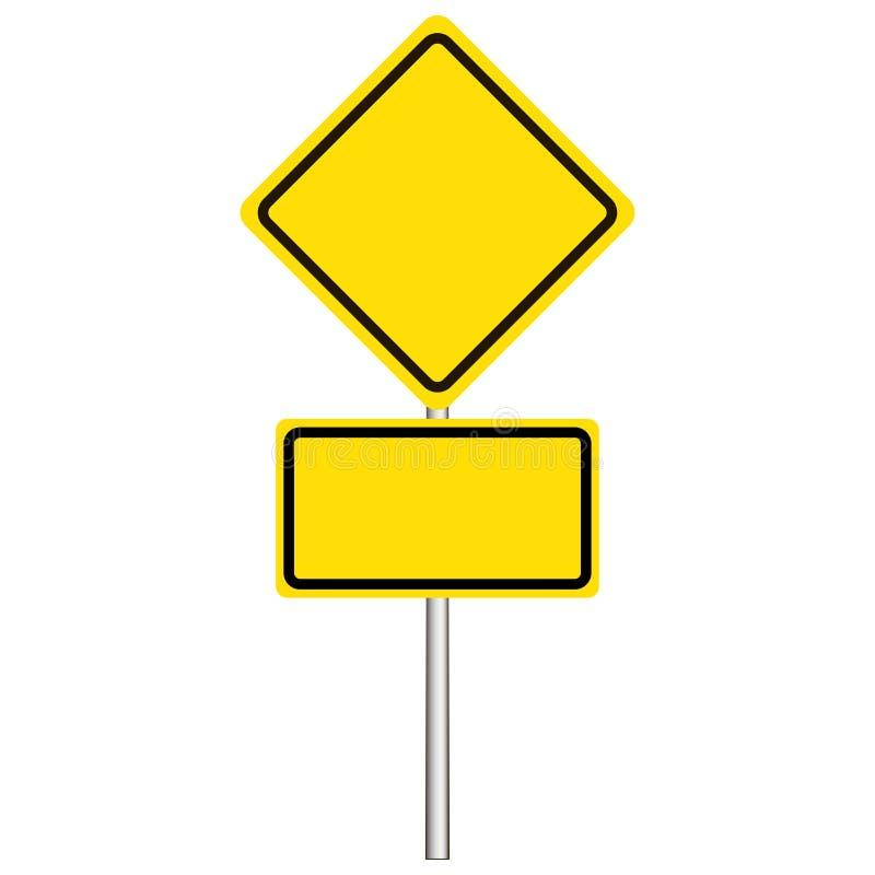 Gata vägmärke, huvudvägentecken på en vit bakgrund stock illustrationer
