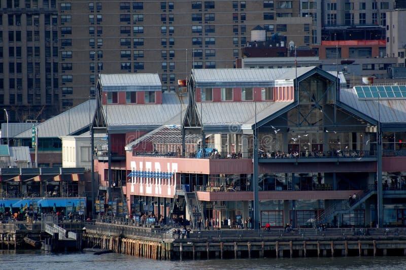 gata york för ny seaport för stad södra arkivfoto