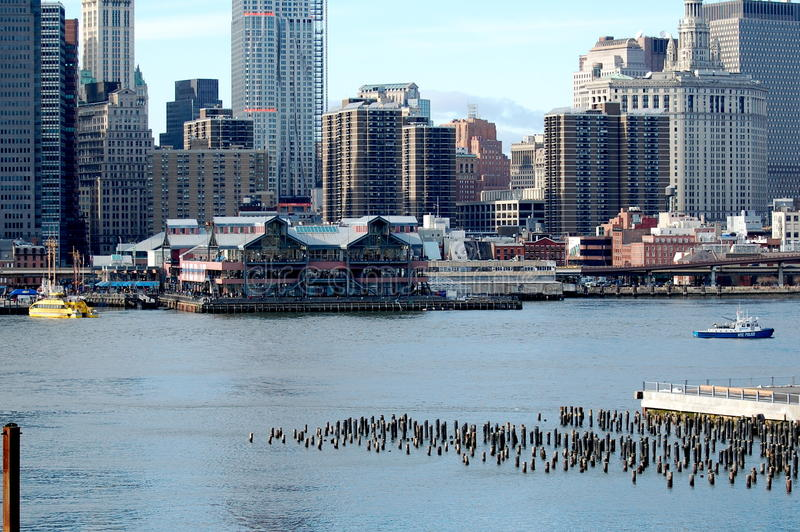 gata york för ny seaport för stad södra royaltyfri foto