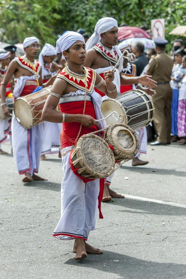 A Gatabera Player and Davul Players beat their drums. stock photo