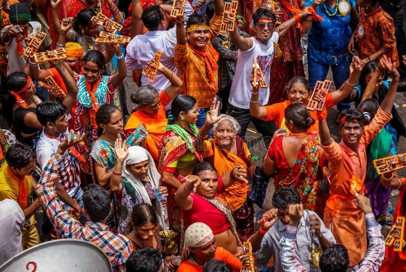 Gatafestival arkivbild