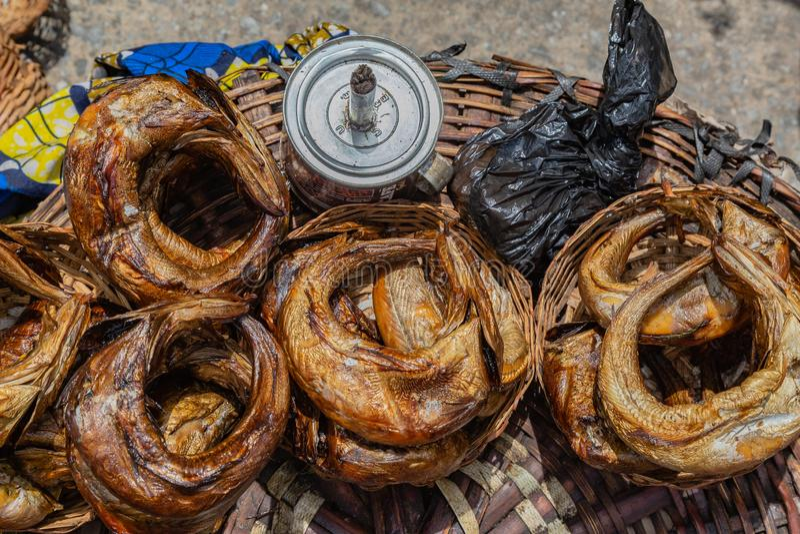 Gatafoods i Lagos Nigeria royaltyfria bilder