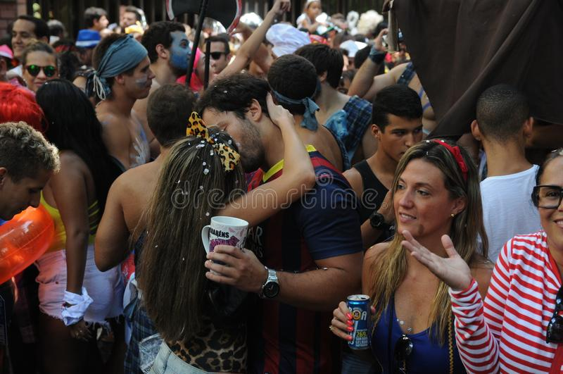 Gatakarneval i Rio de Janeiro, royaltyfria foton