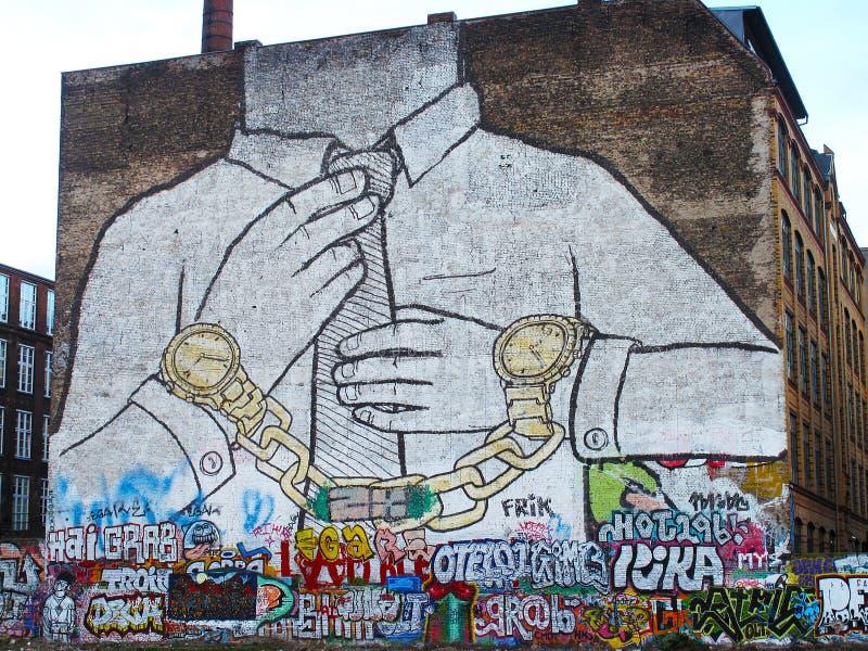 Gatakonst i Berlin royaltyfri fotografi