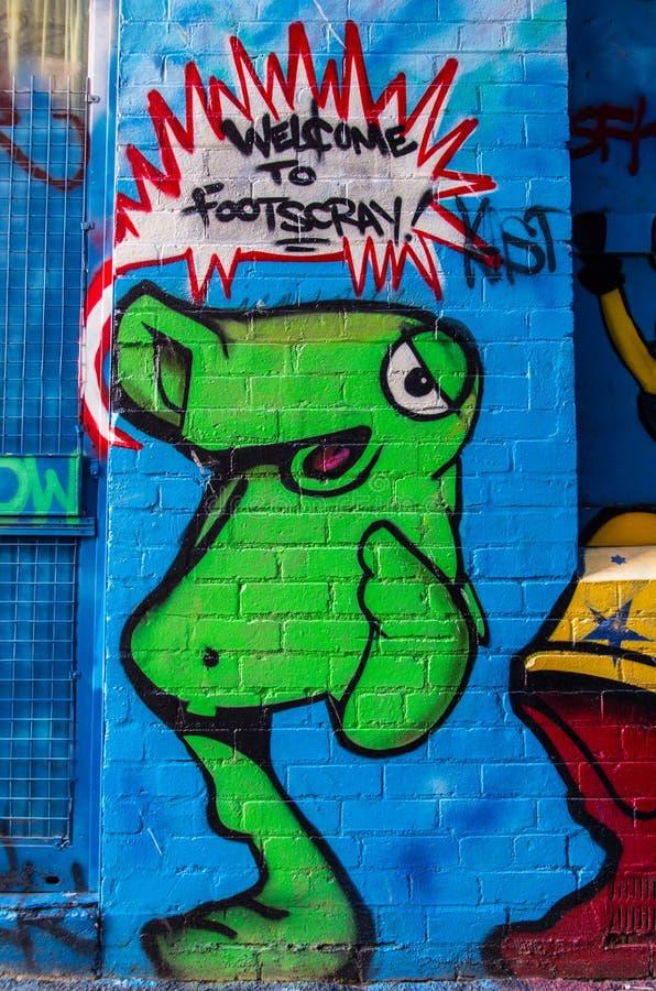 Gatakonst i Footscray, Australien royaltyfri fotografi