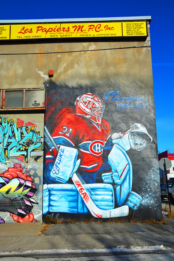 Gatakonst Montreal Carey Price royaltyfri foto