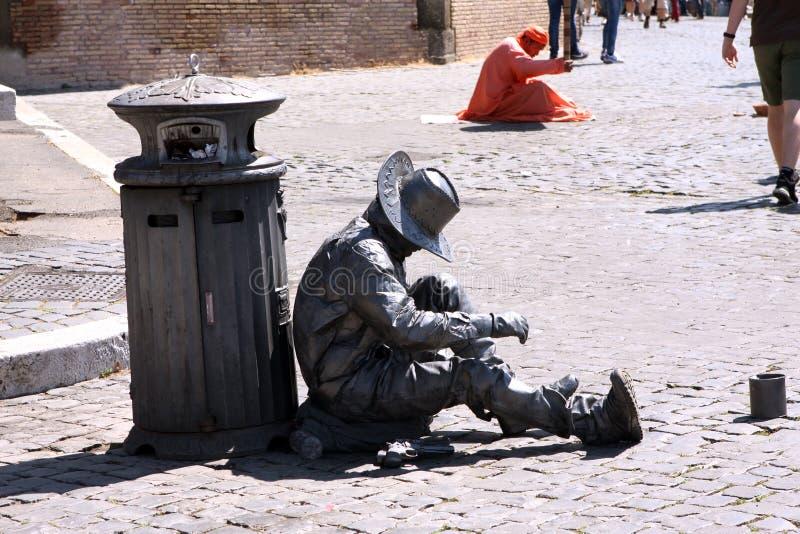 Gatakonstnär Rome Italy royaltyfri foto