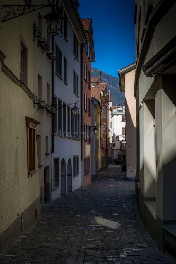 Gatalampor i Chur i Schweiz - 2 royaltyfri foto
