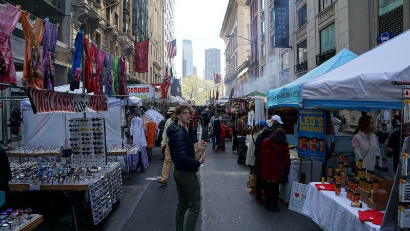 Gatamässa i Manhattan arkivfoton