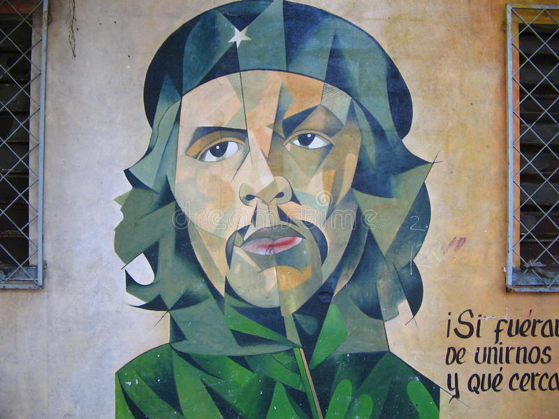 Gatamålning, Che Guevara som vandaliseras royaltyfri fotografi