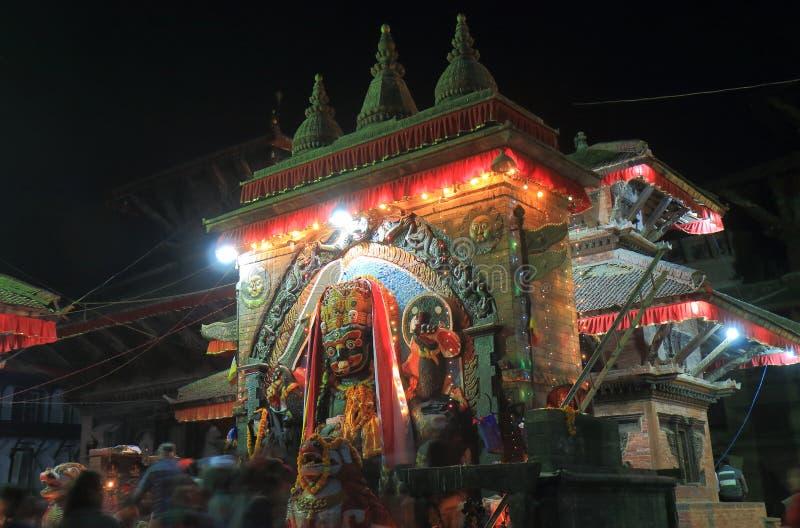 Gatamarknad Katmandu Nepal royaltyfri bild
