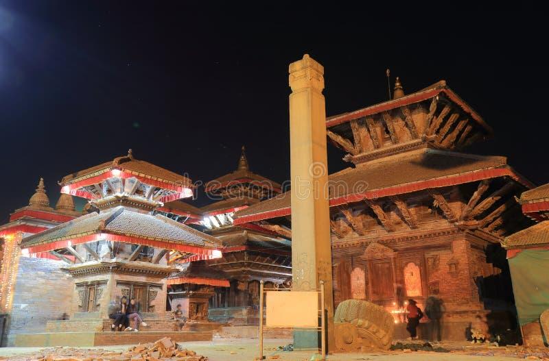 Gatamarknad Katmandu Nepal arkivfoto