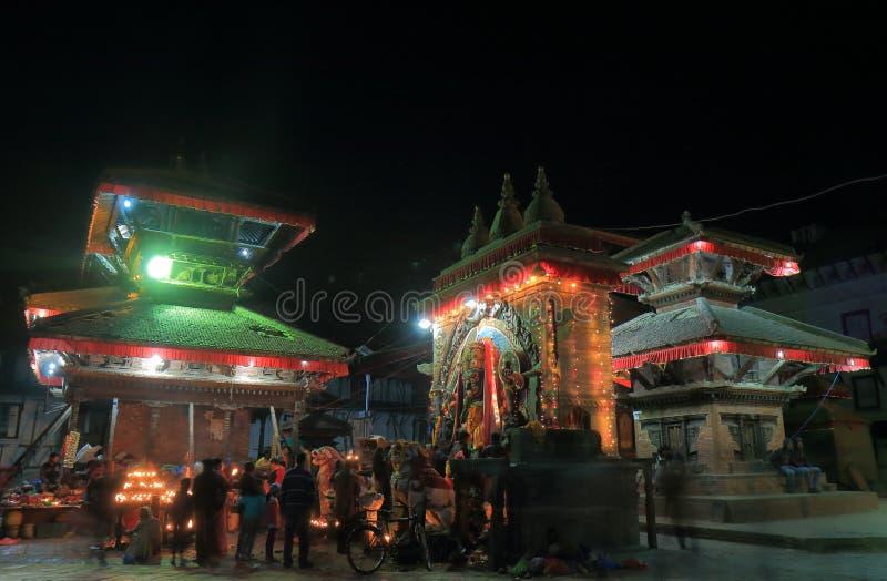 Gatamarknad Katmandu Nepal fotografering för bildbyråer