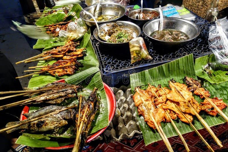 Gatamat, Laos fotografering för bildbyråer