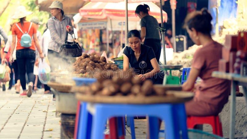 Gatamatförsäljare, Hanoo, Vietnam royaltyfri fotografi