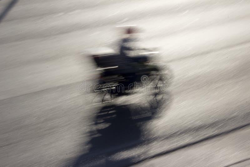 Gatamotorcykel i rörelse fotografering för bildbyråer