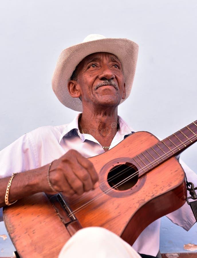 Gatamusiker i Trinidad arkivfoto