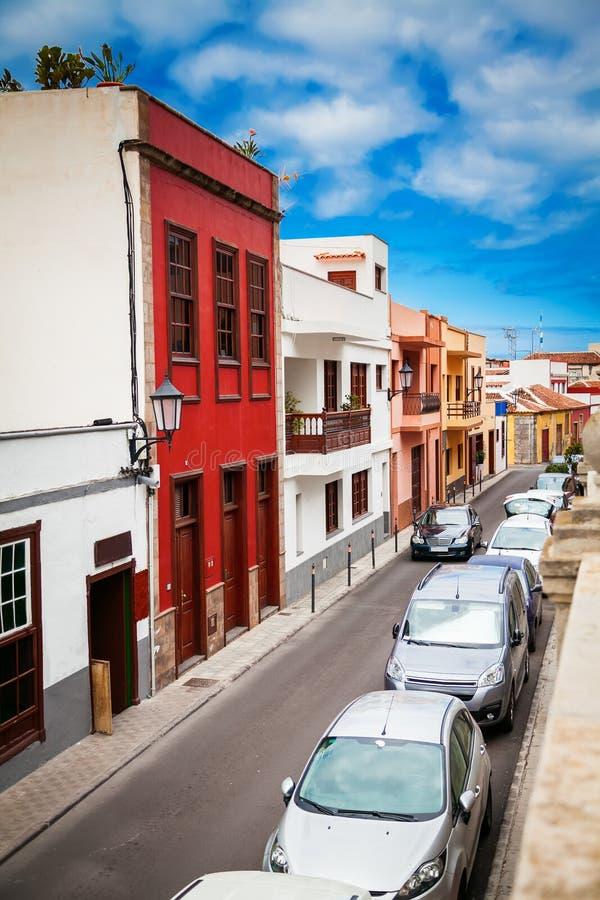 Gatan av den Garachico staden arkivfoto