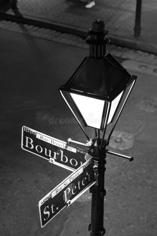 Gatan undertecknar in New Orleans arkivfoto