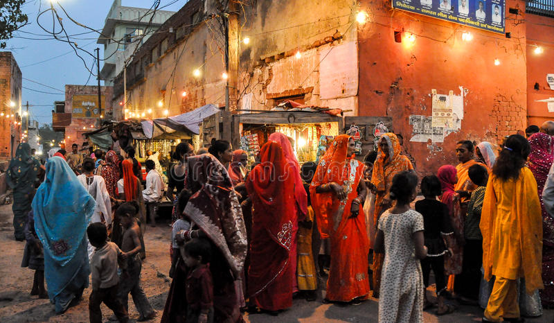 Gataplats, Agra, Indien royaltyfria bilder