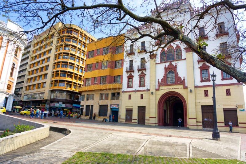 Gataplats i Cali, Colombia royaltyfri fotografi