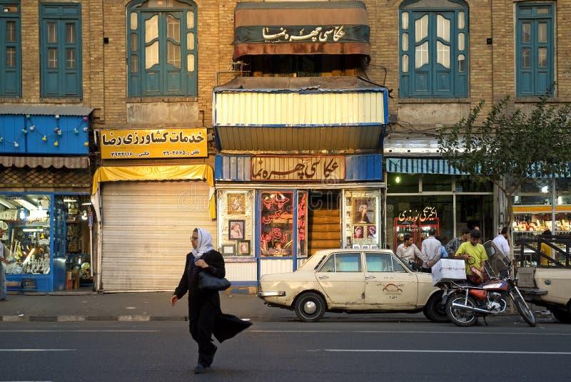 Gataplats i teheran iran arkivfoton