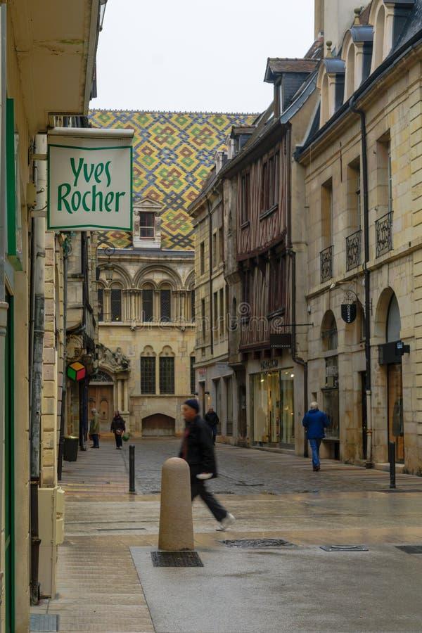 Gataplats i Dijon royaltyfri fotografi