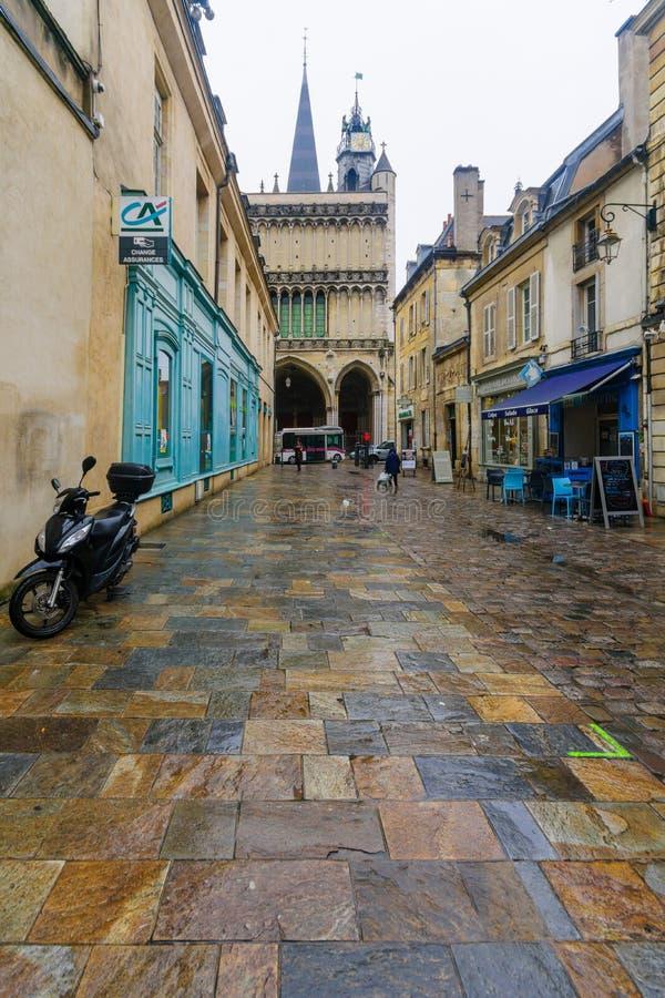 Gataplats i Dijon royaltyfri bild
