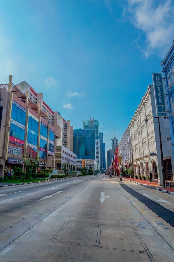 Gataplats i Singapore kineskvarter royaltyfri foto