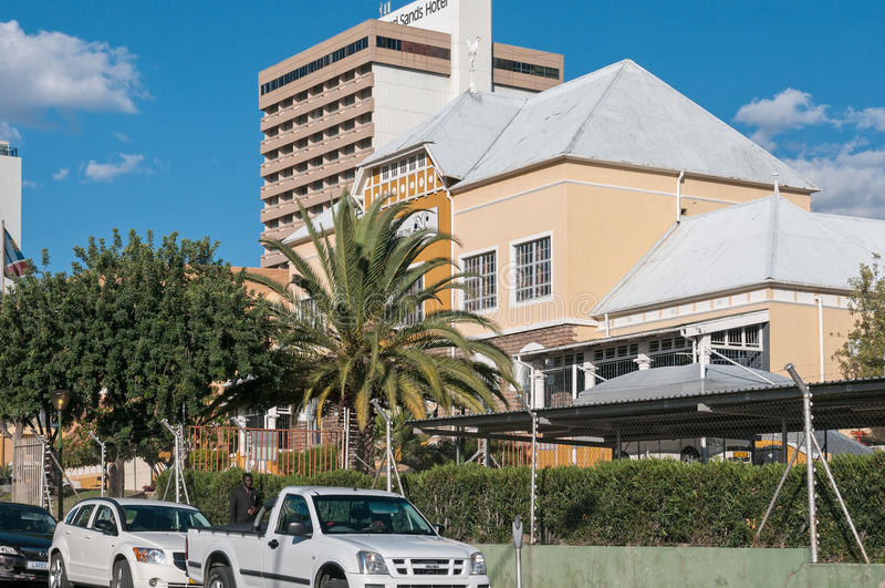 Gataplats i Windhoek royaltyfria foton