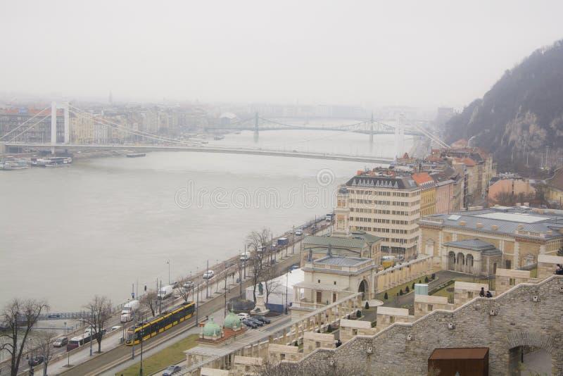 GataplatsBudapest Ungern royaltyfria foton