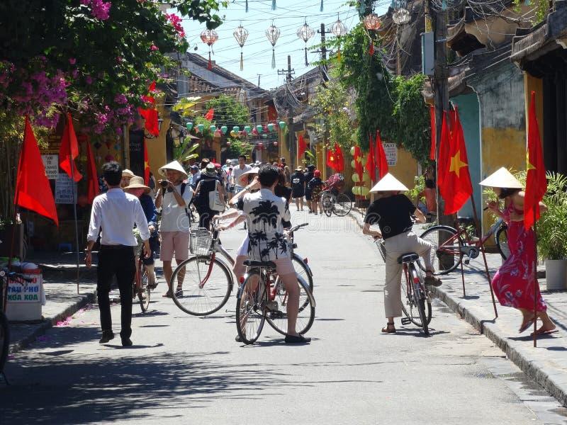 Gataplatser från Hoi An, Vietnam royaltyfria bilder