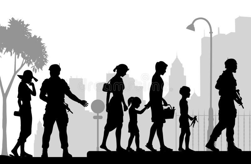 Gatasäkerhet royaltyfri illustrationer