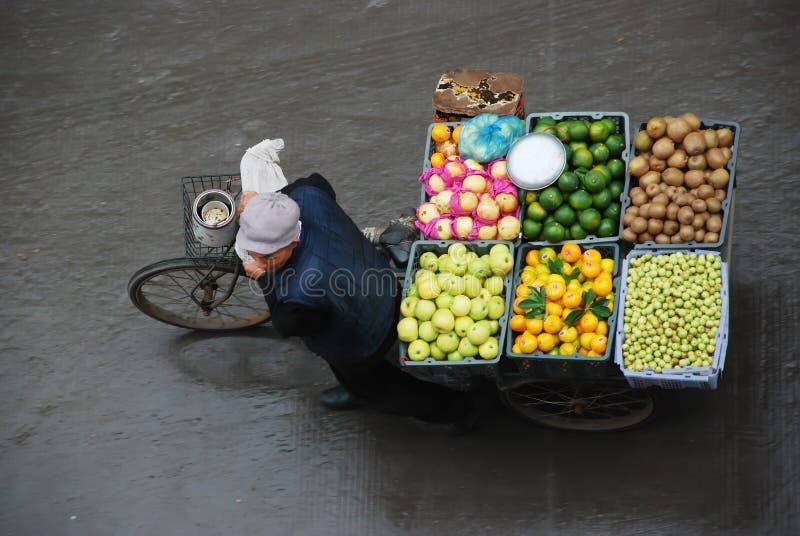 gatasäljare arkivfoto