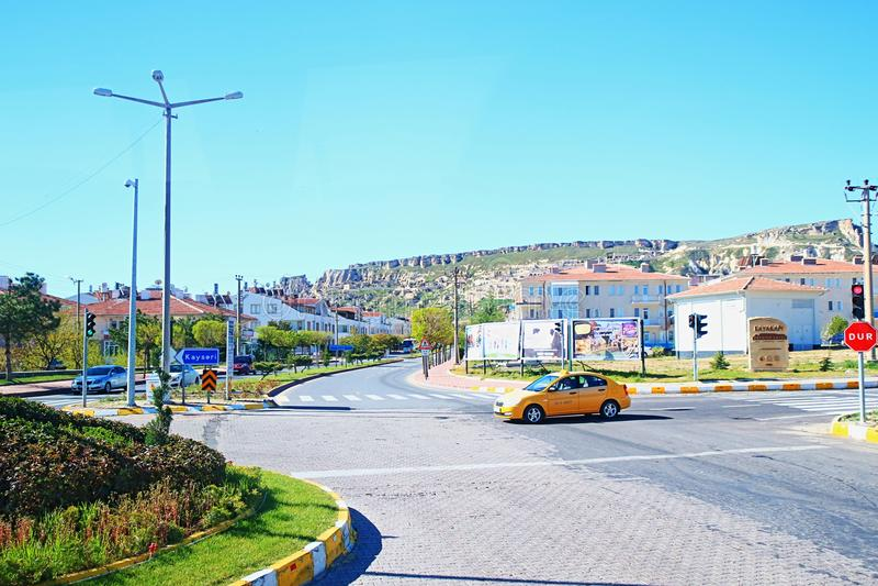 Gatasikt från Urgup Turkiet arkivfoton