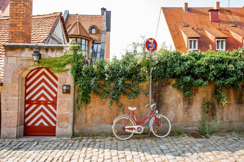 Gatasikt i Nurnberg, Tyskland royaltyfria foton