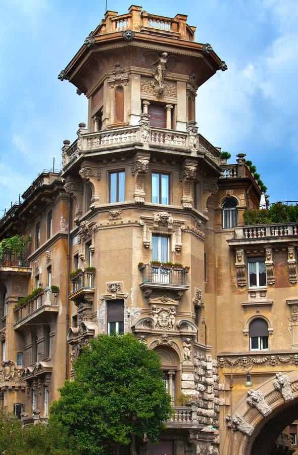 Gatasikt i Rome, Italien royaltyfria bilder