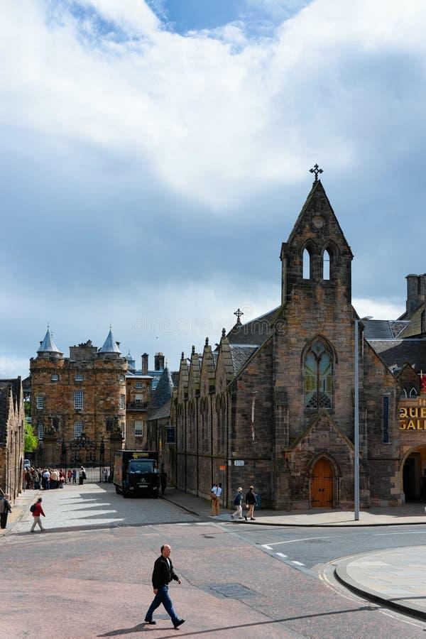 Gatasikt på drottninggalleri i Edinburg fotografering för bildbyråer