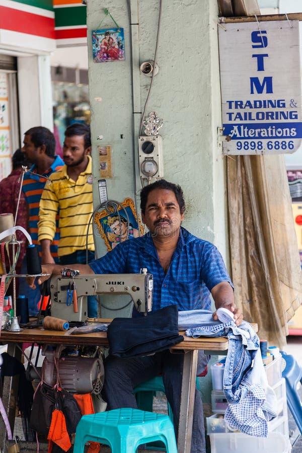 Gataskräddare i lilla Indien, Singapore royaltyfria foton