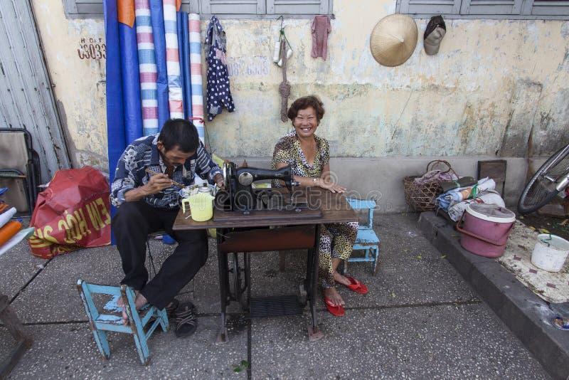Gataskräddare i Vietnam royaltyfri bild