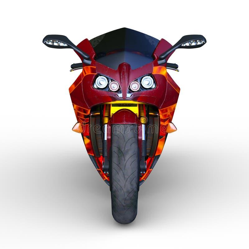 Gatasportcykel royaltyfri illustrationer