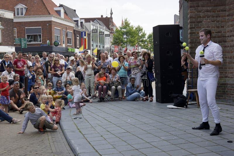 Gatateaterfestival i Doetinchem, Nederländerna på Juli 1 royaltyfri fotografi