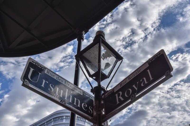 Gatatecken in New Orleans (USA royaltyfri bild