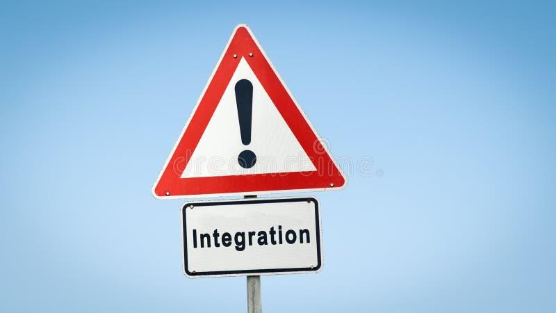 Gatatecken till integration arkivbilder
