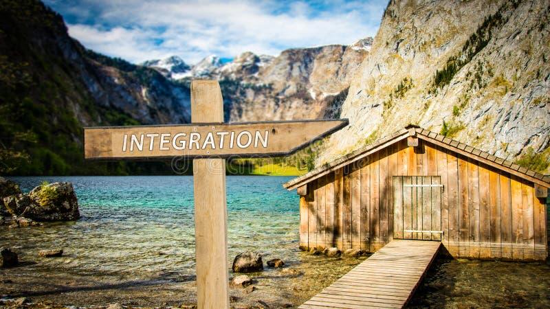 Gatatecken till integration royaltyfri foto