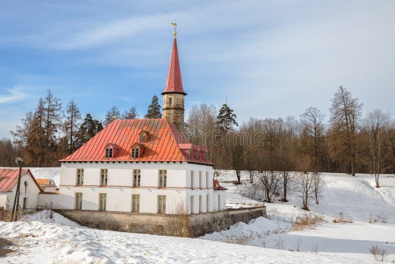 小修道院宫殿在加特契纳 库存照片