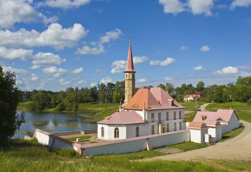 Gatchina, palácio Earthen de Prioratskiy fotos de stock royalty free