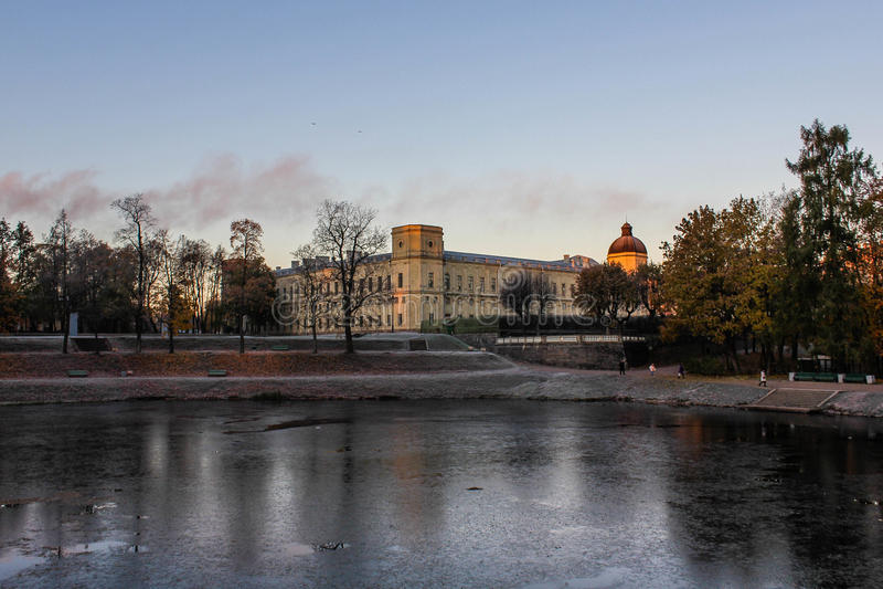 Gatchina slott royaltyfria foton