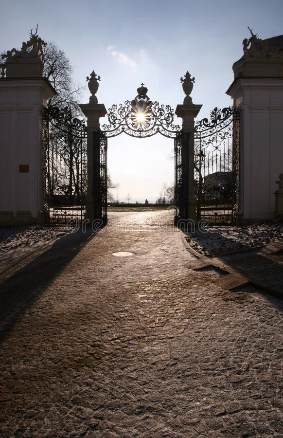 Download Gate stock photo. Image of chateau, manor, gate, winter - 12772590